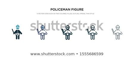 Zestaw złodziej komisarz Stick wektora samochodu Zdjęcia stock © glyph