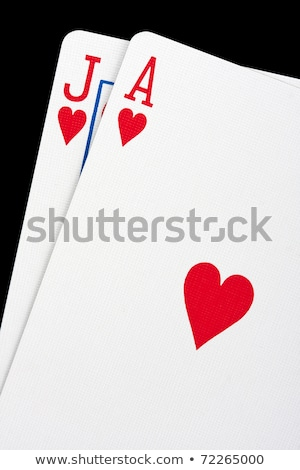 A pair of aces playing cards macro close up. Stock photo © latent