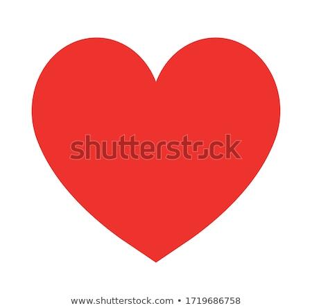 カップル 赤 心 白 葉 背景 ストックフォト © Leonardi