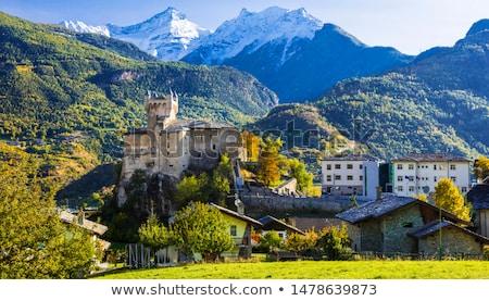 святой замок Италия внешний Церкви долины Сток-фото © Antonio-S