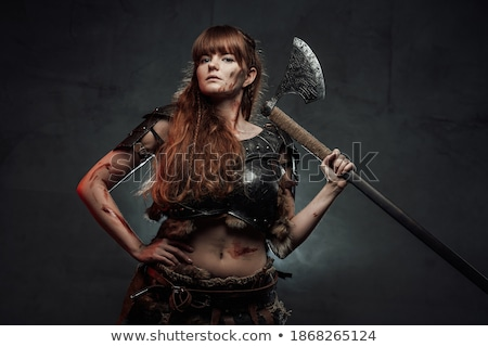 Woman posing with hatchet Stock photo © photography33