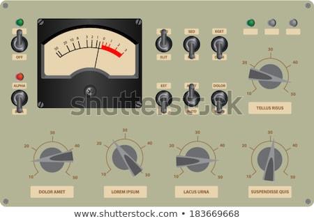 Zene irányítópanel színes kulcs háttér kék Stock fotó © Ansonstock