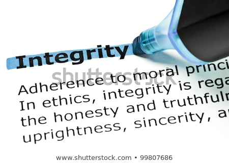 Integrity highlighted in blue Stock photo © ivelin