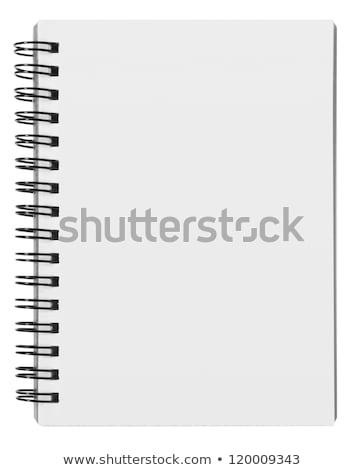 Stockfoto: Blanco · papier · spiraal · notebook · geïsoleerd · boek · achtergrond