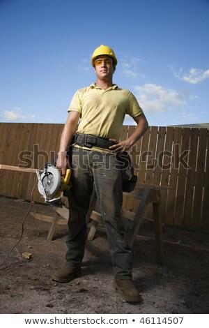 стажер · увидела · древесины · строительство - Сток-фото © photography33