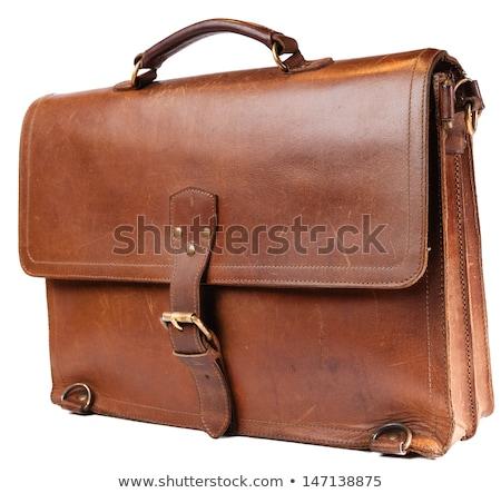 Leather brown briefcase Stock photo © ozaiachin