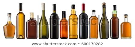 szett · üvegek · bor · pezsgő · izolált · fehér - stock fotó © ozaiachin
