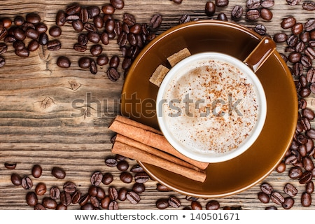 lump sugar and brown coffee cup Stock photo © prill