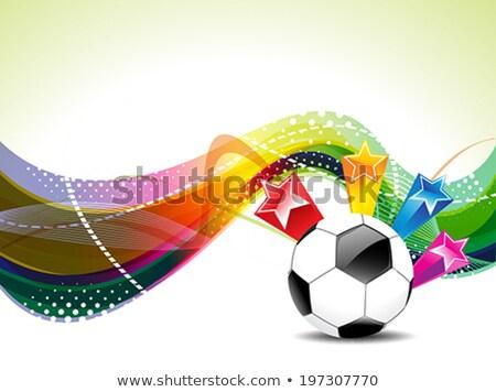magia · balón · de · fútbol · vuelo · deporte · fondo · estrellas - foto stock © pathakdesigner