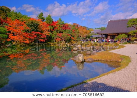 japanese garden lake in kyoto temple area Stock photo © travelphotography