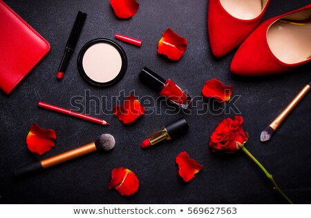 girl with red rose and assorted clothing Stock photo © photography33