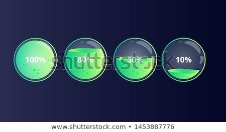 清算 100 パーセント ショッピングカート フル 番号 ストックフォト © idesign