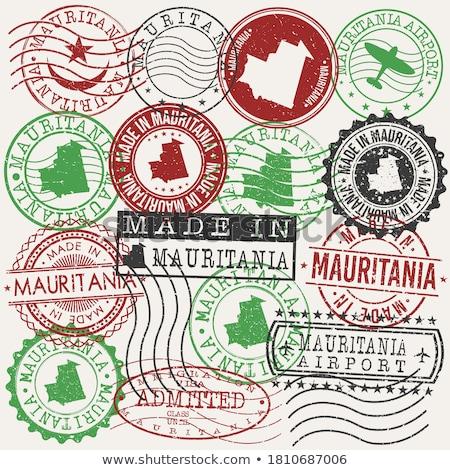 メール モーリタニア 画像 スタンプ 地図 フラグ ストックフォト © perysty