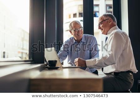 starszy · biznesmen · ręce · kopia · przestrzeń · odizolowany · czarny - zdjęcia stock © grafvision