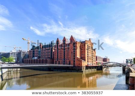 Fachada hamburgo histórico edificio Alemania Europa Foto stock © Spectral