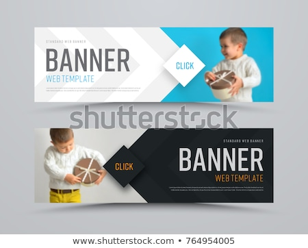 ウェブサイト · バナー · デザイン · セット · 矢印 · 技術 - ストックフォト © eltoro69