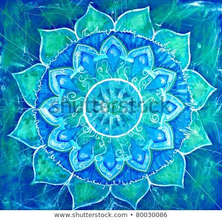 Chakra Blauw groene wereld zee vrouw Stockfoto © mariephoto