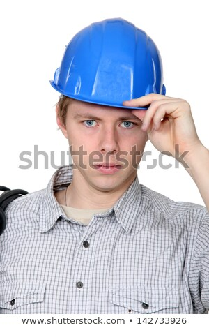electrician stood with coil over shoulder stock photo © photography33