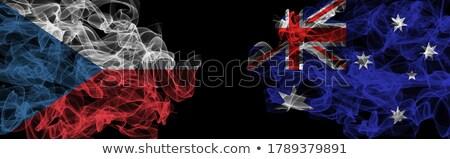 Austrália tcheco mundo australiano bandeira Foto stock © ruskpp