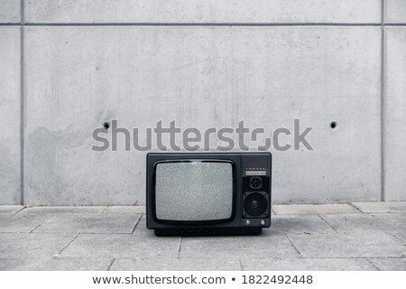 grungy old tv set without a screen stock photo © michaklootwijk