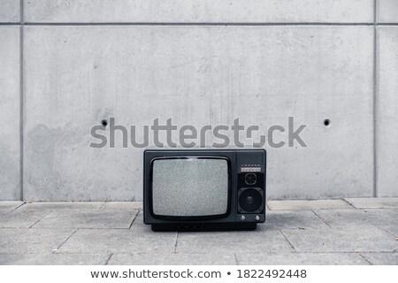 Koszos öreg tv készülék képernyő Hollandia háttér Stock fotó © michaklootwijk