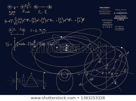 Gravitáció absztrakt művészet illusztráció kék tudomány Stock fotó © robertosch