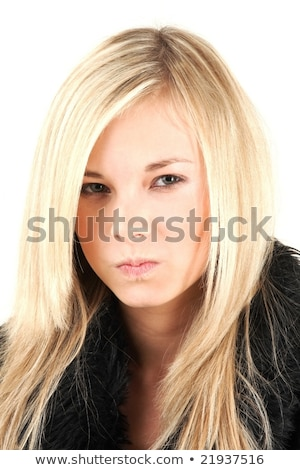 Cute adolescent Nice grimace femme peau Photo stock © Andersonrise