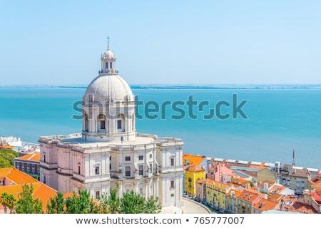 リスボン ポルトガル 美しい 表示 タイル張りの 屋根 ストックフォト © tannjuska