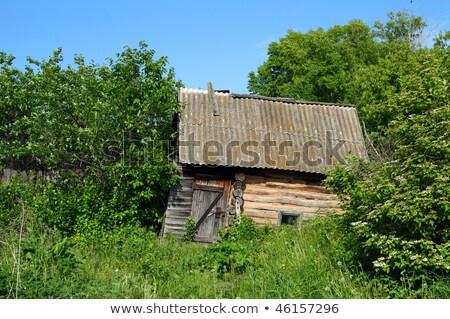 Starych przestarzały domu Zdjęcia stock © Mikko