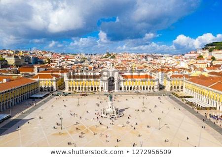 Kamu kare Lizbon Portekiz Avrupa Bina Stok fotoğraf © gvictoria