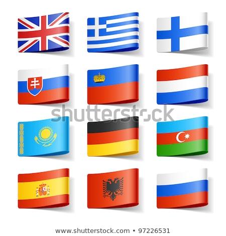 Bandiera Liechtenstein ombra bianco nero colore Foto d'archivio © claudiodivizia