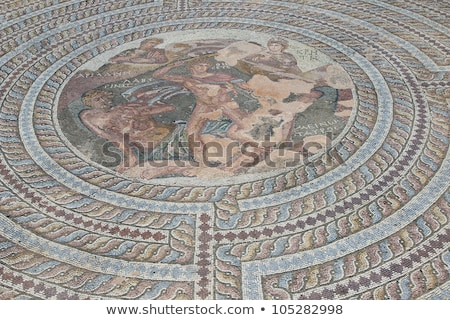 Roman mosaic of Theseus and the Minotaur Stock photo © Snapshot
