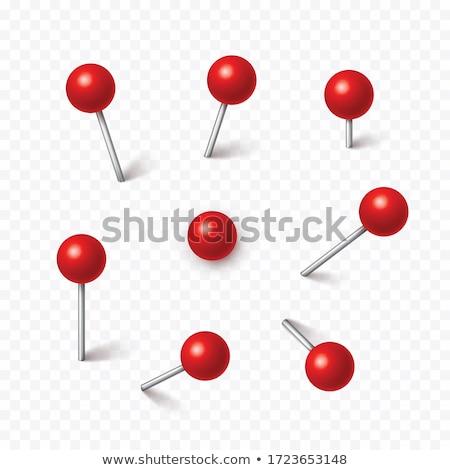 Pin renkli 3D render örnek Stok fotoğraf © head-off