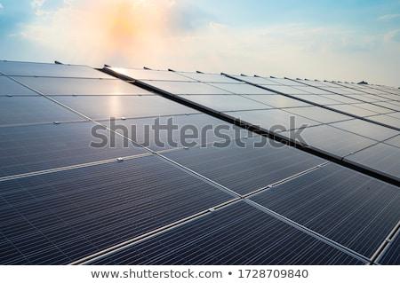Nap fotovoltaikus elektromosság Stock fotó © zzve