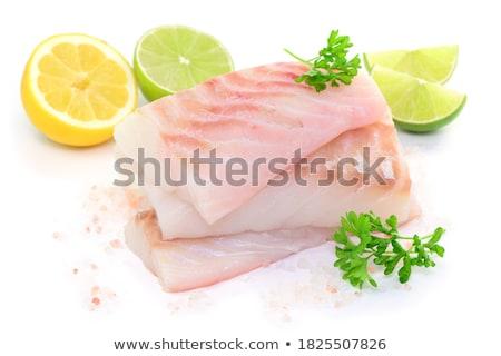 Stock fotó: Darab · friss · nyers · hal · egészséges · étrend · étel