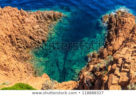Beautiful Scenic Coastline on the French Riviera near Cannes, Fr Stock photo © Bertl123