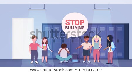 Stock photo: Students being bullied
