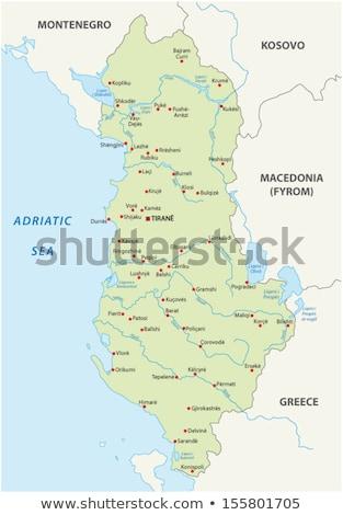 Green Albania map Stock photo © Volina