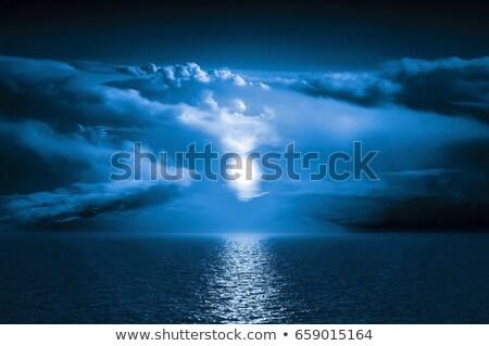 hold · fény · sötét · víz · tájkép · háttér - stock fotó © shirophoto