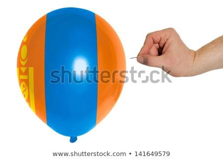 Bursting balloon colored in  national flag of mongolia    Stock photo © vepar5