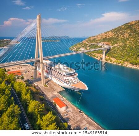 dubrovnik · Hırvatistan · liman · marina · dışında · şehir - stok fotoğraf © lianem