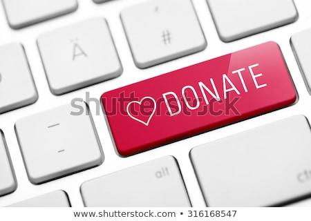 Bağışlamak düğme bilgisayar klavye pc anahtar bilgisayar Stok fotoğraf © fotoscool