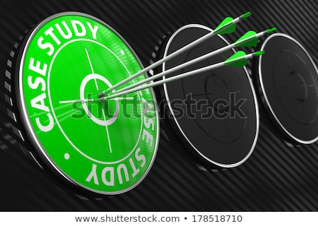 Case Study - Green Target. Stock photo © tashatuvango