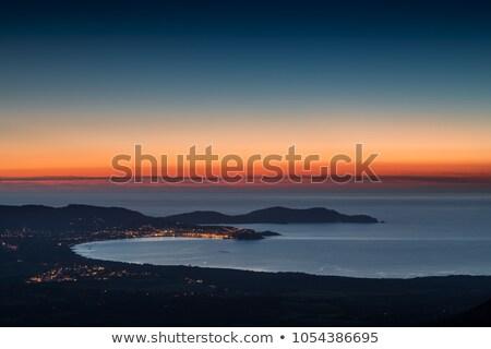Nap mögött citadella Korzika régió naplemente Stock fotó © Joningall