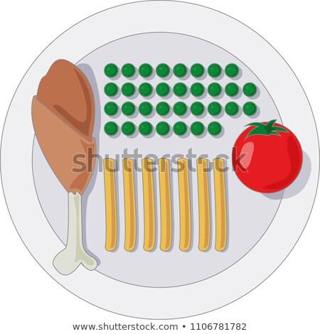 Régime alimentaire bol laitue verre eau dîner Photo stock © raphotos