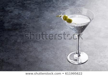 водка-мартини три свежие оливками внутри Бар Сток-фото © AlphaBaby