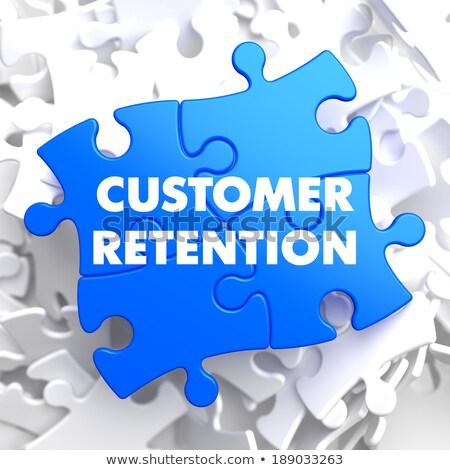 Customer Retention on Blue Puzzle. Stock photo © tashatuvango