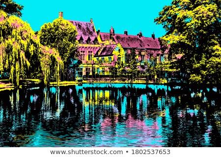 traditioneel · gebouwen · België · historisch · Europa · stad - stockfoto © jenbray