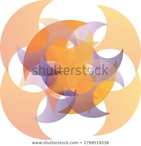 Knop bol geïsoleerd witte abstract ontwerp Stockfoto © Guru3D