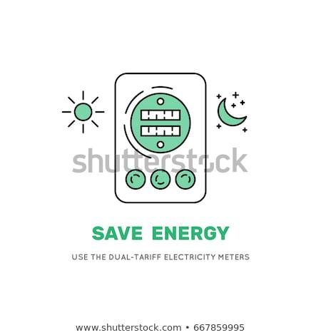 elektromosság · ellátás · erő · ipar · felszerlés · építkezés - stock fotó © boroda